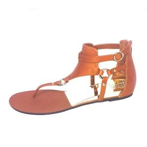 Vince Camuto tan gladiator sandals